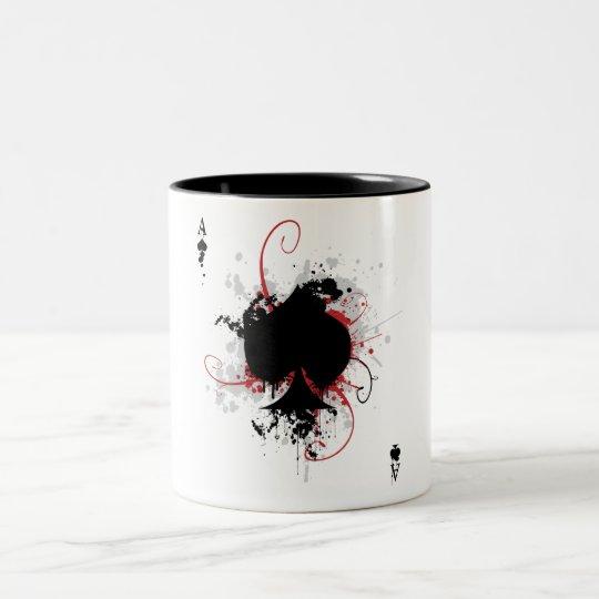 Grunge Ace Two-Tone Coffee Mug