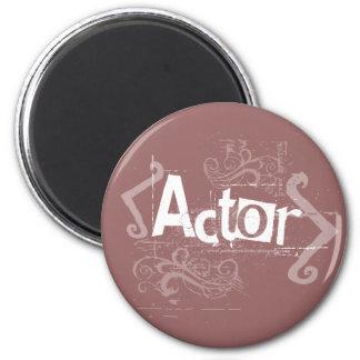 Grunge Actor 2 Inch Round Magnet