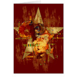 Grunge Africa Star Faces of Africa Tribal Postcard Greeting Card