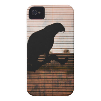 Grunge African Grey Parrot Silhouette Case-Mate iPhone 4 Case