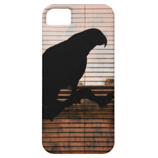 Grunge African Grey Parrot Silhouette iPhone SE/5/5s Case
