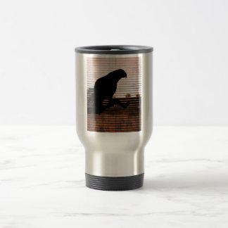 Grunge African Grey Parrot Silhouette Coffee Mug