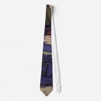 Grunge Aged Nautical Ship's Anchor Neck Tie