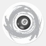 Grunge agradable de la circular del billar pegatinas redondas