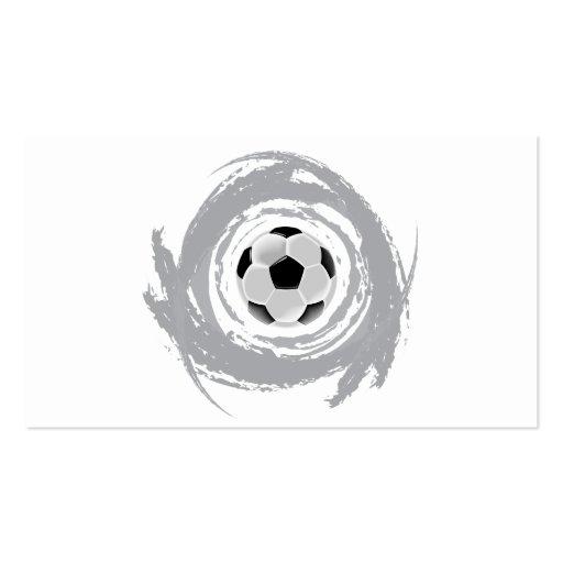 Grunge agradable de la circular del fútbol tarjeta de visita