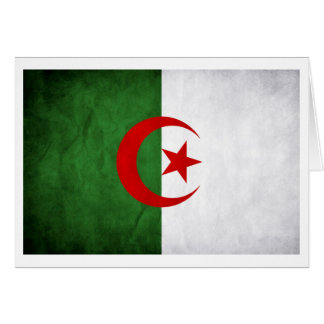 Grunge Algeria National Flag Card