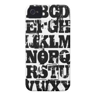 Grunge Alphabet B/W iPhone 4/4S Case