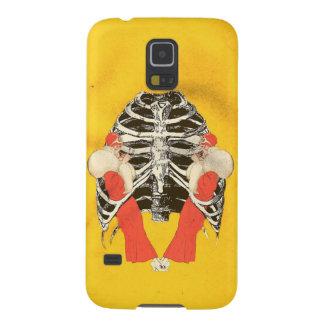 Grunge amarillo de Ribcage de los labios de la Fundas De Galaxy S5