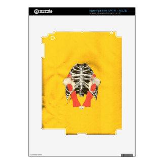 Grunge amarillo de Ribcage de los labios de la Pegatina Skin Para iPad 3