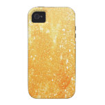 Grunge amarillo iPhone 4 carcasas