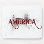 Grunge América de la sangría Alfombrillas De Raton