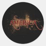 Grunge América de la sangría Etiqueta Redonda