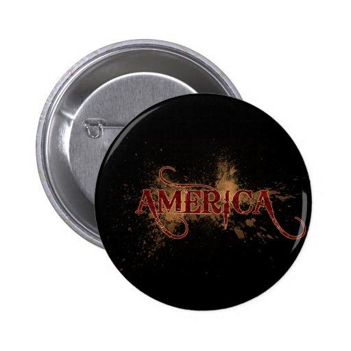 Grunge América de la sangría Pins