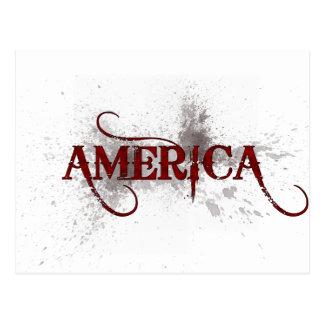 Grunge América de la sangría Postales