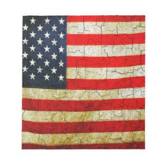 Grunge America flag Notepad