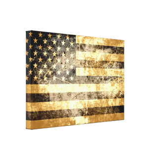 Grunge American Flag 3 Canvas Print