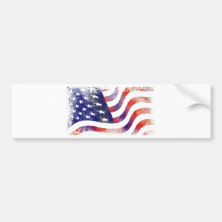 Grunge American Flag Bumper Sticker