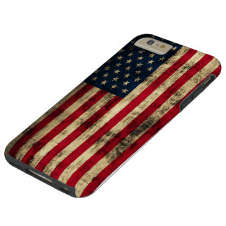 Grunge American Flag Tough iPhone 6 Plus Case
