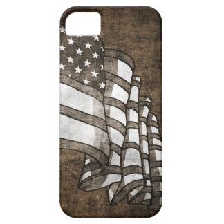 Grunge American flag iPhone 5 case mate Sepia
