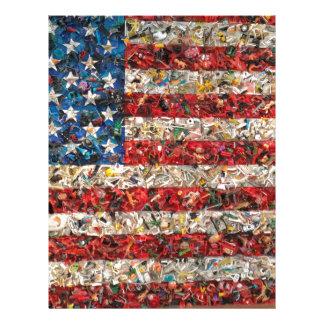 grunge american flag letterhead