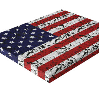 Grunge American Flag of U.S.A. Canvas Prints