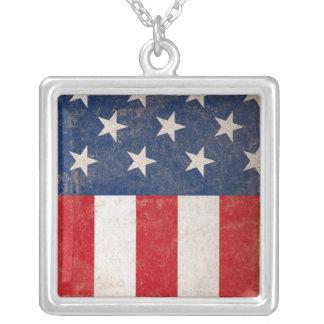 Grunge American Flag Patriotic USA Pendants