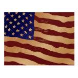 Grunge American flag Postcard