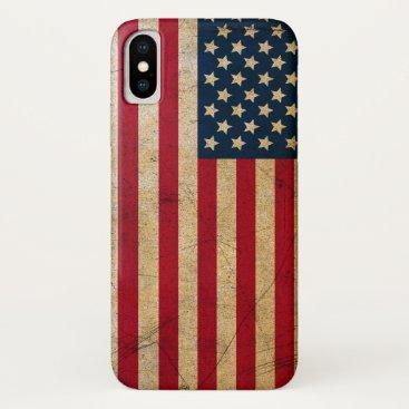 Grunge American flag USA iPhone X Case