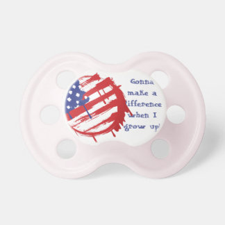 Grunge American Flag with Running Color Drips Pacifier