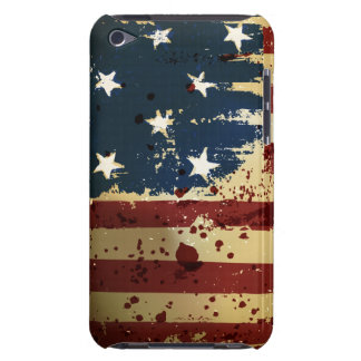 Grunge American Pariotic Flag iPod Touch Case