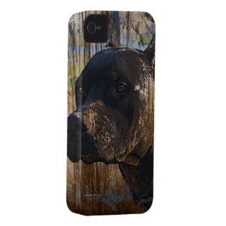 Grunge American Staffordshire Terrier Pitbull Case-Mate iPhone 4 Case