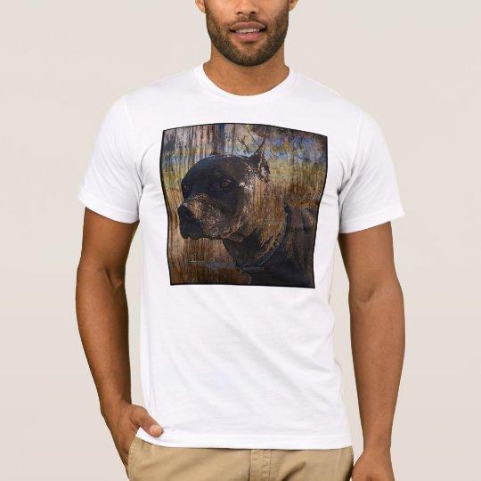Grunge American Staffordshire Terrier Pitbull T-Shirt