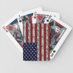 Grunge American USA Flag Deck Of Cards