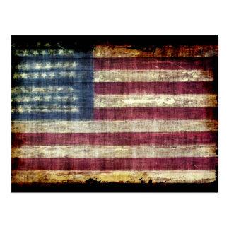 Grunge americano tarjeta postal