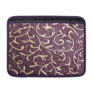 Grunge amethyst,burgundy,vintage, paper, royal MacBook sleeves
