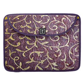 Grunge amethyst,burgundy,vintage, paper, royal MacBook pro sleeve