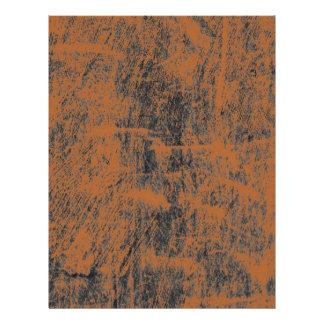 Grunge anaranjado aherrumbrado membretes personalizados