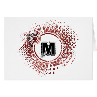 Grunge and Circles - Customizable Urban Monogram Card