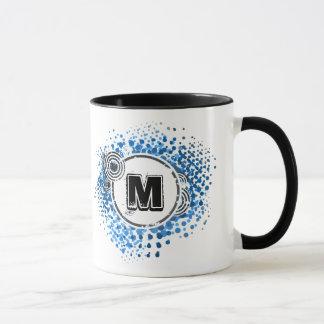 Grunge and Circles - Customizable Urban Monogram Mug