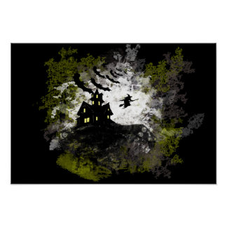 Grunge And Distressed Halloween Background Poster