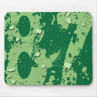 GRUNGE AND PAINT SPLATTER NUMBER 87 MOUSE PAD