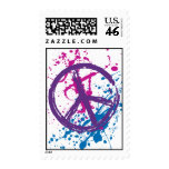 GRUNGE AND SPLATTER PEACE SIGN STAMPS