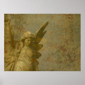 Grunge Angel print