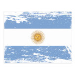 Grunge Argentina Flag Postcard