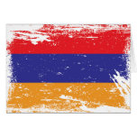 Grunge Armenia Flag Greeting Card