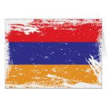 Grunge Armenia Flag Greeting Cards