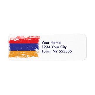 Grunge Armenia Flag Label