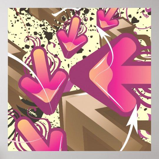Grunge Arrows Poster