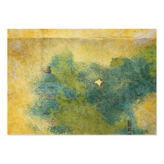 Grunge arrugado amarillo del periódico del verde tarjetas de visita