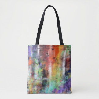 Grunge artístico bolsa de tela